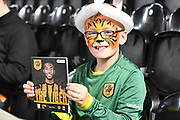 Hull City fan during the EFL Sky Bet Championship match between Hull City and Preston North End at the KCOM Stadium, Kingston upon Hull, England on 26 September 2017. Photo by Ian Lyall.