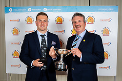 SW COMMS Young Player Of The Season winner Joe Simmonds with Brian Lodge, SWComms - Ryan Hiscott/JMP - 16/05/2019 - SPORT - Sandy Park - Exeter, England - Exeter Chiefs End of Season Awards