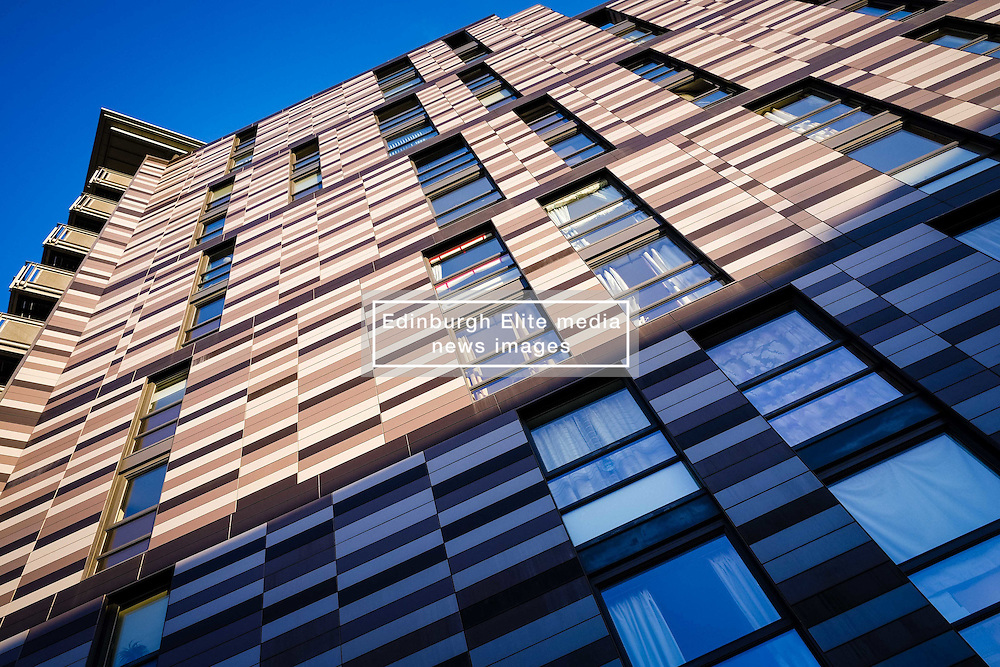 Modern multi-storey housing at Wharton Square in central Edinburgh  part of the Quartermile development.<br /> <br /> (c) Andrew Wilson | Edinburgh Elite media