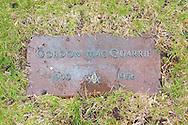 Gordon MacQuarrie grave marker in the Wisconsin Memorial Park, Milwaukee.