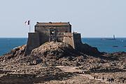Saint-Malo Fortress on the beach