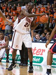 Virginia guard-forward Mamadi Diane (24)..The Virginia Cavaliers men's basketball team faced the Howard Bison at the John Paul Jones Arena in Charlottesville, VA on November 14, 2007.