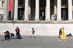 © Licensed to London News Pictures. 16/03/2020. London, UK. An empty Trafalgar Square as the Coronavirus outbreak affecting businesses and tourism in London. Photo credit: Ray Tang/LNP