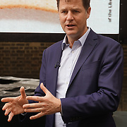 London,England,UK. 31th May 2017. Lib Dem Nick Clegg unviel a hard-hitting poster attacking Theresa May at Geraldine Mary Harmsworth Park,London,UK. by See Li
