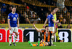 Harry Maguire of Hull City reacts after being fouled before Robert Snodgrass' equaliser - Mandatory by-line: Matt McNulty/JMP - 30/12/2016 - FOOTBALL - KCom Stadium - Hull, England - Hull City v Everton - Premier League