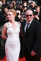 Director Quentin Tarantino and Actress Uma Thurman at the Palme d'Or  Closing Awards Ceremony red carpet at the 67th Cannes Film Festival France. Saturday 24th May 2014 in Cannes Film Festival, France.