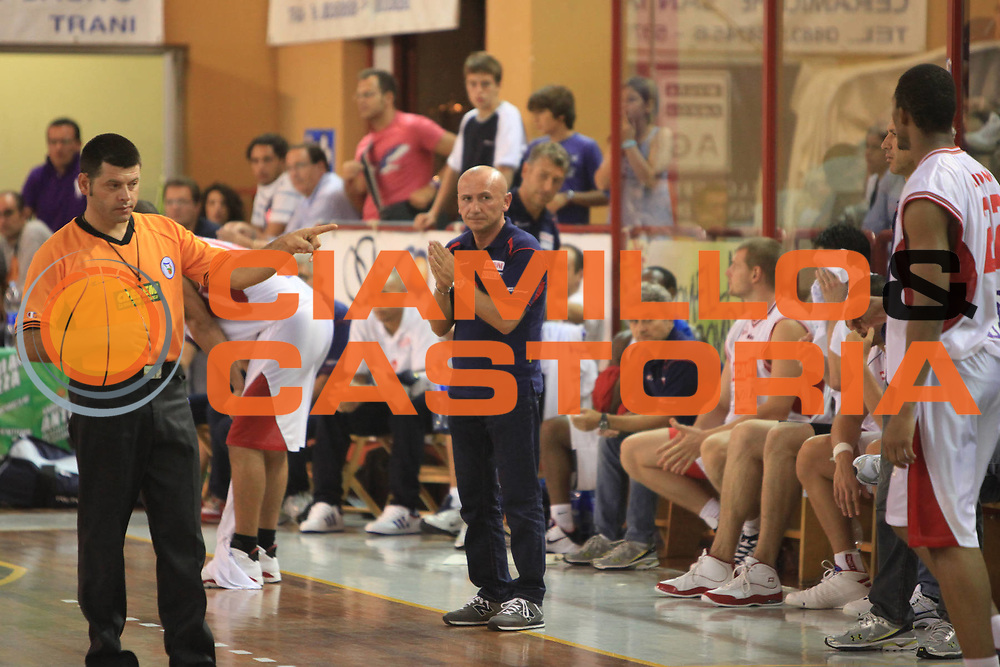 DESCRIZIONE : Trani Memorial Antonio Cezza A 2010-11 Scavolini Siviglia Pesaro Enel Brindisi<br /> GIOCATORE : Luca Dalmonte<br /> SQUADRA : Scavolini Siviglia Pesaro<br /> EVENTO : Campionato Lega A 2010-2011 <br /> GARA : Scavolini Siviglia Pesaro Enel Brindisi<br /> DATA : 19/09/2010<br /> CATEGORIA : coach<br /> SPORT : Pallacanestro <br /> AUTORE : Agenzia Ciamillo-Castoria/C.De Massis<br /> Galleria : Lega Basket A 2010-2011 <br /> Fotonotizia : Trani Memorial Antonio Cezza A 2010-11 Scavolini Siviglia Pesaro Enel Brindisi<br /> Predefinita :