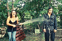 #18 Stay Glad<br /> &lt;br&gt;<br /> Kari Liston &amp; Jeremy Segel-Moss, Musicians<br /> &lt;P&gt;<br /> Having performed as The Bottoms Up Blues Gang for over a decade, the duo felt that this photo sums up their relationship well.