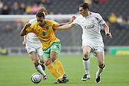 Milton Keynes - Tuesday, August 12th, 2008: Keith Andrews (R) of MK Dons and Darel Russell (L) of Norwich City during the Carling League Cup First Round match at Stadium MK, Milton keynes. (Pic by Mark Chapman/Focus Images)