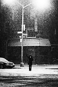 February 11th 2006. New York, New York.<br /> A record-breaking snow storm doesn't deter New Yorkers from going out in the Meatpacking district on a <br /> Saturday night.