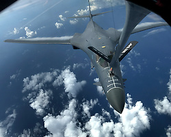 A U.S. Air Force B-1B Lancer assigned to the 37th Expeditionary Bomb<br />