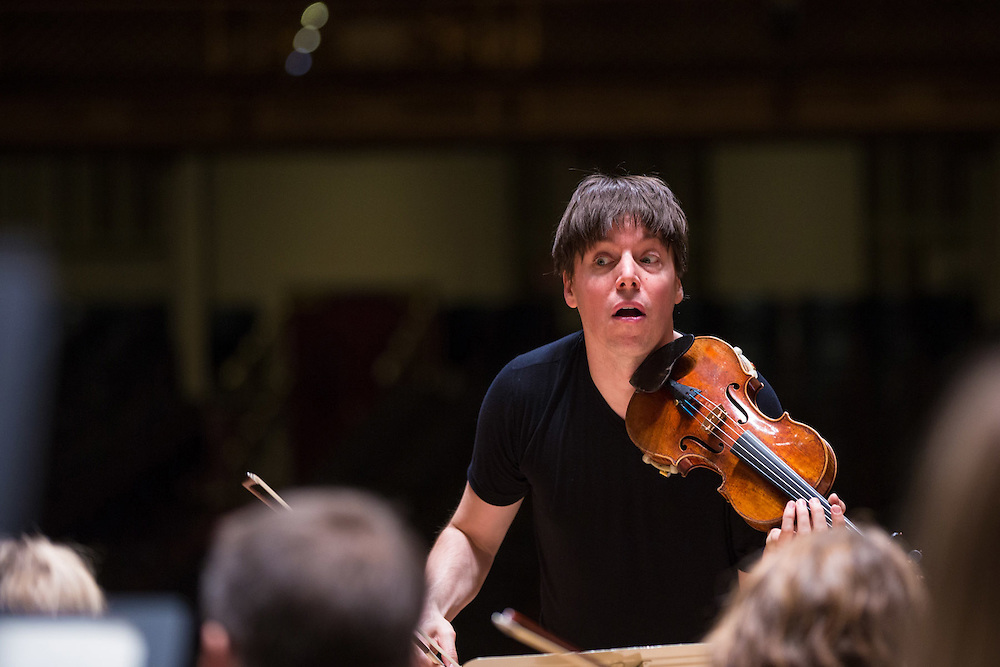 Joshua Bell, Academy of St Martin in the Fields, Sound Check at Symphony Hall, Boston