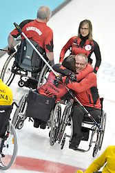 Ina Forrest, Dennis Thiessen, Jim Armstrong, Sonja Gaudet, Wheelchair Curling Semi Finals at the 2014 Sochi Winter Paralympic Games, Russia