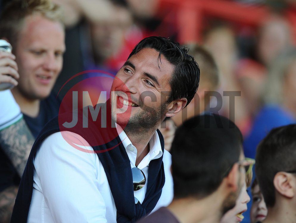 Former Bristol City favourite and now football agent, Bradley Orr sits with the Bristol City fans  - Mandatory byline: Joe Meredith/JMP - 07966386802 - 15/08/2015 - FOOTBALL - Ashton Gate -Bristol,England - Bristol City v Brentford - Sky Bet Championship