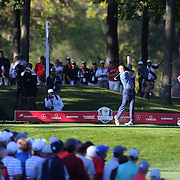 Ryder Cup 2016. Day One. Sergio Garcia of Europe in action during the Friday afternoon four-ball competition during the Ryder Cup at  Hazeltine National Golf Club on September 30, 2016 in Chaska, Minnesota.  (Photo by Tim Clayton/Corbis via Getty Images)