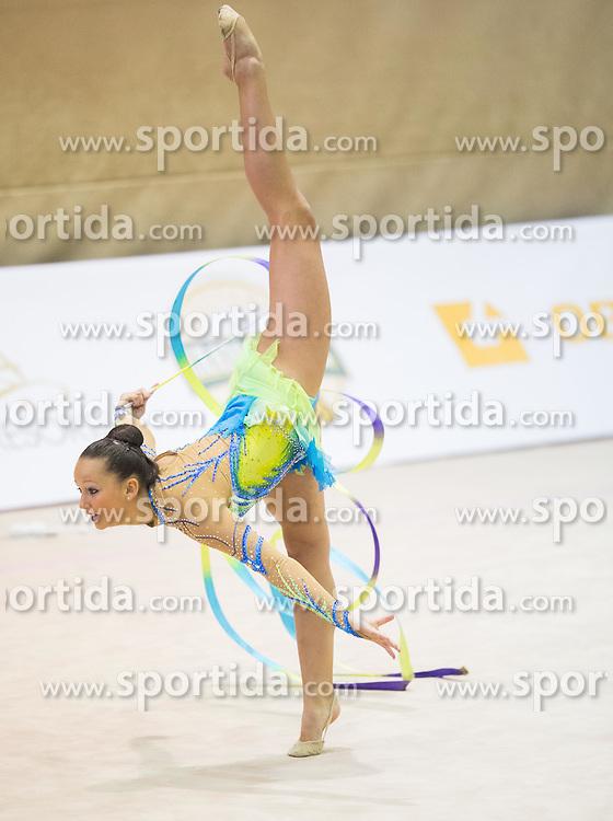 Sophia Lindtner of Austria competes during 27th MTM - International tournament in rhythmic gymnastics Ljubljana, on April 19, 2014 in Arena Krim, Ljubljana, Slovenia. Photo by Vid Ponikvar / Sportida