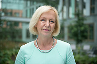 18 AUG 2015, BERLIN/GERMANY:<br /> Johanna Wanka, CDU, Bundesforschungsministerin, im Innenhof, Bundesministerium fuer Bildung und Forschung<br /> IMAGE: 20150818-02-025