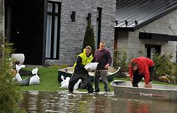 May 7, 2017 - Gatineau, Quebec, Canada - Quebec , GATINEAU , Mai 07,2017.Plusieurs rues inondees par la crue du fleuve Gatineau apres plusieurs jours de pluie. (Credit Image: © Panoramic via ZUMA Press)