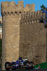 June 24, 2017 - Baku, Azerbaijan - Pascal Wehrlein of Germany driving the (94) Sauber F1 Team on track during final practice for the Azerbaijan Formula One Grand Prix at Baku City Circuit. (Credit Image: © Aziz Karimov/Pacific Press via ZUMA Wire)