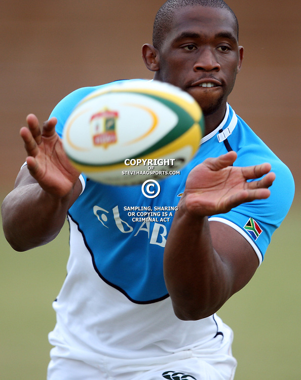 DURBAN, SOUTH AFRICA - JUNE 06, Siya Kolisi during the South African national rugby team training session at Northwood High School on June 06, 2012 in Durban, South Africa<br /> Photo by Steve Haag / Gallo Images