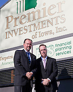 Jeffrey Johnston and Brock Renner (from left) at Premier Investments of Iowa, Inc. in Cedar Rapids on Friday, November 16, 2012.