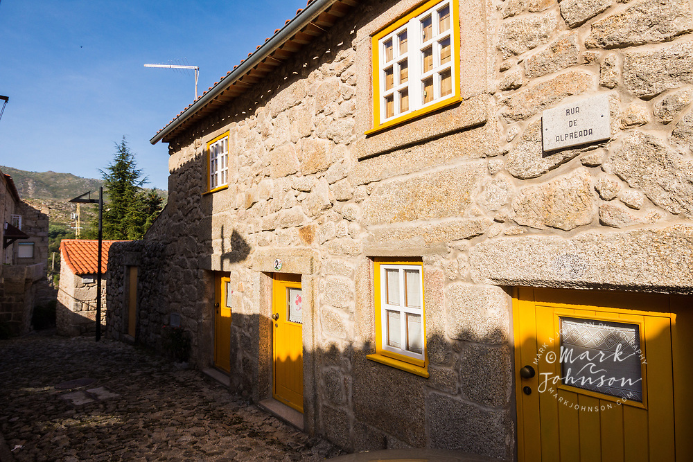 A house in the village of Castelo Novo, Portugal