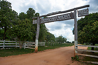 Entrance to the Trans Panatanerira Highway,  The Pantanal, Mato Grosso, Brazil