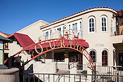 Shops And Restaurants of Courtyard Plaza In San Juan Capistrano