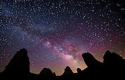 Milky Way Over Trona Pinnacles