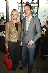 The EARL & COUNTESS OF MORNINGTON at a party to celebrate the publication of Lisa B's book 'Lifestyle Essentials' held at the Cook Book Cafe, Intercontinental Hotel, Park Lane London on 10th April 2008.<br />