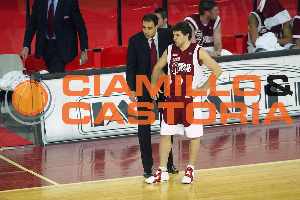 DESCRIZIONE : Roma Lega A1 2005-06 Lottomatica Virtus Roma Basket Livorno <br /> GIOCATORE : Moretti Porta <br /> SQUADRA : Basket Livorno <br /> EVENTO : Campionato Lega A1 2005-2006 <br /> GARA : Lottomatica Virtus Roma Basket Livorno <br /> DATA : 04/02/2006 <br /> CATEGORIA : <br /> SPORT : Pallacanestro <br /> AUTORE : Agenzia Ciamillo-Castoria/G.Ciamillo