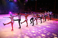 Line of ice skaters