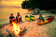 Tunku Abdul Rahman National Park, Kota Kinabalu, Sabah, Borneo, Malaysia, March 2006. Sea kayaking in Tunku Abdul Rahman marine reserve, takes you to five beautiful tropical islands. Some have small resorts, some are pristine and some are inhabited by former Sea Gypsies. All of them are surrounded with beautiful coral reefs and offer spectacular snorkling. Photo by Frits Meyst/Adventure4ever.com