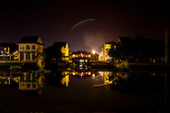 A view of the Japanese bridge of Hoi An, Vietnam, at night.