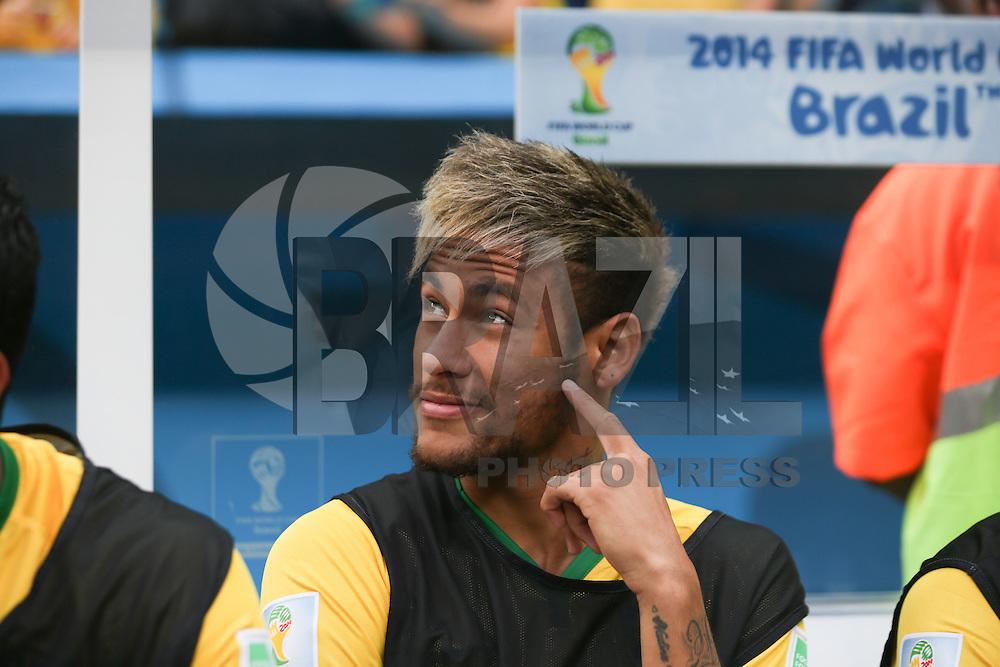 BRASILIA, DF, 12.07.2014 - COPA DO MUNDO - BRASIL - HOLANDA - Neymar Jr. do Brasil durante partida contra a Holanda jogo que vale o terceiro lugar da Copa do Mundo no Estadio Nacional de Brasilia, neste sabado, 12. (Foto: William Volcov / Brazil Photo Press).