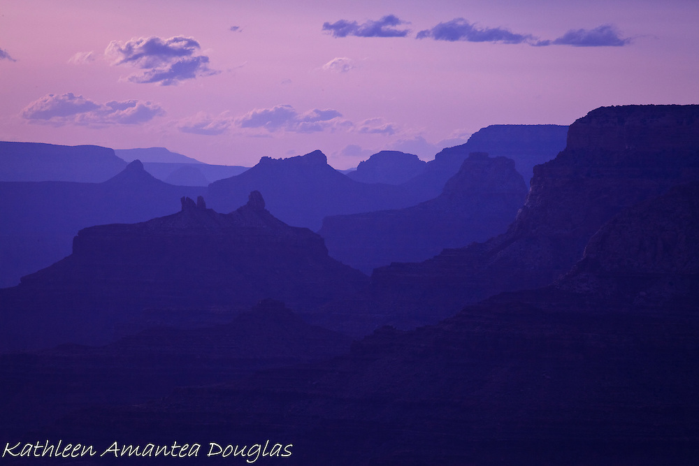 Grand Canyon at Sunset, Desert View Point, Grand Canyon National Park, South Rim.
