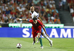 September 10, 2018 - Lisbon, Italy - Portugal v Italy - UEFA Nations League.Simone Zaza of Italy and Pepe of Portugal at Estadio da Luz in Lisbon, Portugal on September 10, 2018. (Credit Image: © Matteo Ciambelli/NurPhoto/ZUMA Press)
