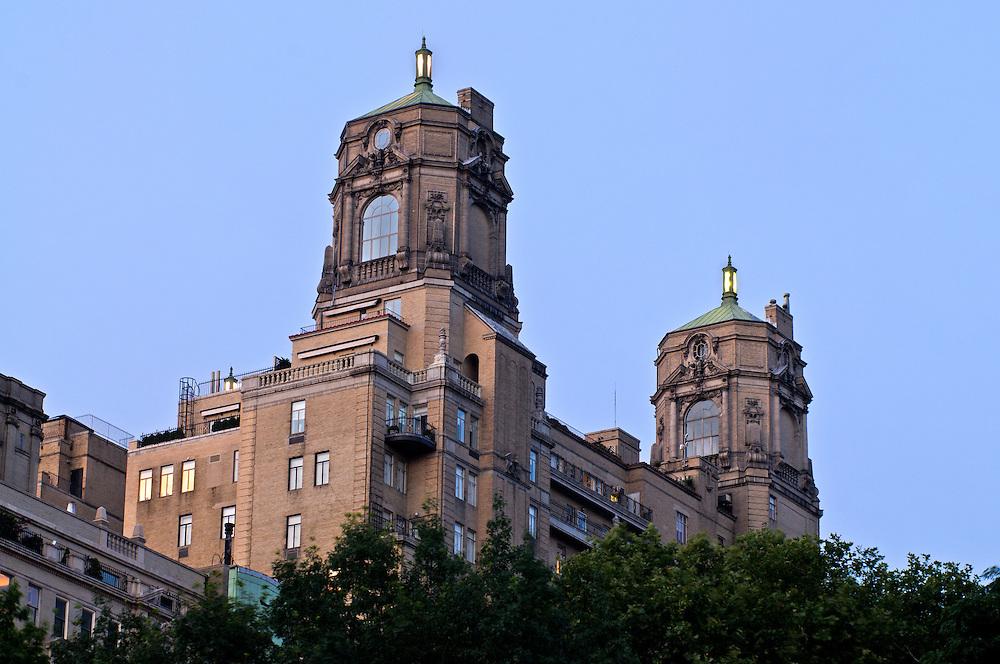 The Beresford, 211 Central Park West, apartment building.  architect, Emery Roth, Manhattan, New York City, New York, USA