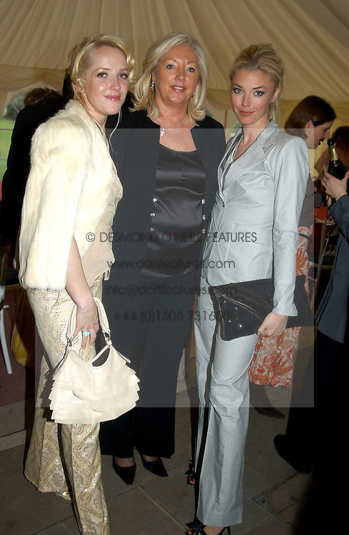 Left to right, CLARE VAN DAM, her mother PAULA BECKWITH and TAMARA BECKWITH at 'Horticouture' a charity fashion show to raise funds for Tommy's, the baby charity and The Royal Botanic Gardens, Kew held at Kew on 12th May 2005.<br /><br />NON EXCLUSIVE - WORLD RIGHTS