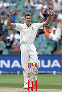 Morne Morkel  celebrates the wicket of Matt Prior (2nd ball) during day 4 of the 4th Castle Test between South Africa and England held at The Bidvest Wanderers Stadium in Johannesburg, South Africa on the 17 January 2010.Photo by:  Ron Gaunt/SPORTZPICS