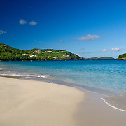 Cinnamon Bay, a beautiful tropical beach on the island of St. John in the U.S. Virgin Islands in the Caribbean