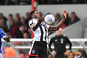 Grimsby Town midfielder Mitch Rose(8) during the EFL Sky Bet League 2 match between Grimsby Town FC and Oldham Athletic at Blundell Park, Grimsby, United Kingdom on 15 September 2018.
