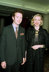 MR & MRS ASHLEY HICKS he is the grandson of the late Earl Mountbatten of Burma, at a party in London on 16th 1997.LZJ 47