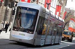 13.03.2012, Graz, AUT, Feature, im Bild eine Strassenbahn der GVB Linie 4 Richtung Andritz, EXPA Pictures © 2012, PhotoCredit: EXPA/ Erwin Scheriau