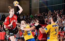 Ana Gros of Krim at handball match of Round 3 of Champions League between RK Krim Mercator and Hypo Niederosterreich, on November 8, 2009, in Arena Kodeljevo, Ljubljana, Slovenia.  Krim won 35:24. (Photo by Vid Ponikvar / Sportida)