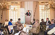 Craig Butler addresses the Ohio University State Government Alumni Luncheon on Tuesday, May 5, 2015.  Photo by Ohio University  /  Rob Hardin