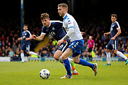 Bury midfielder Danny Mayor (10) dribbling during the EFL Sky Bet League 1 match between Southend United and Bury at Roots Hall, Southend, England on 30 April 2017. Photo by Matthew Redman.