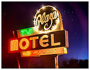 Plaza Motel sign