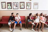 PALERMO, 29 LUGLIO 2015: Alcuni dei ragazzi del GREST (Gruppo Estivo) sono qui nella Parrocchia di Santa Lucia Borgovecchio, a Palermo il 29 luglio 2015.