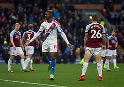 Wilfried Zaha of Crystal Palace (C) celebrates scoring his sides third goal - Mandatory by-line: Jack Phillips/JMP - 02/03/2019 - FOOTBALL - Turf Moor - Burnley, England - Burnley v Crystal Palace - English Premier League